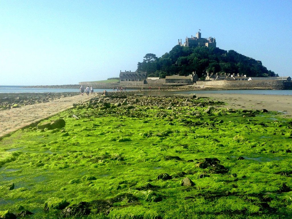 Visit Cornwall crossing the causeway to St Michael's Mount is a highlight in pictureque Cornwall.