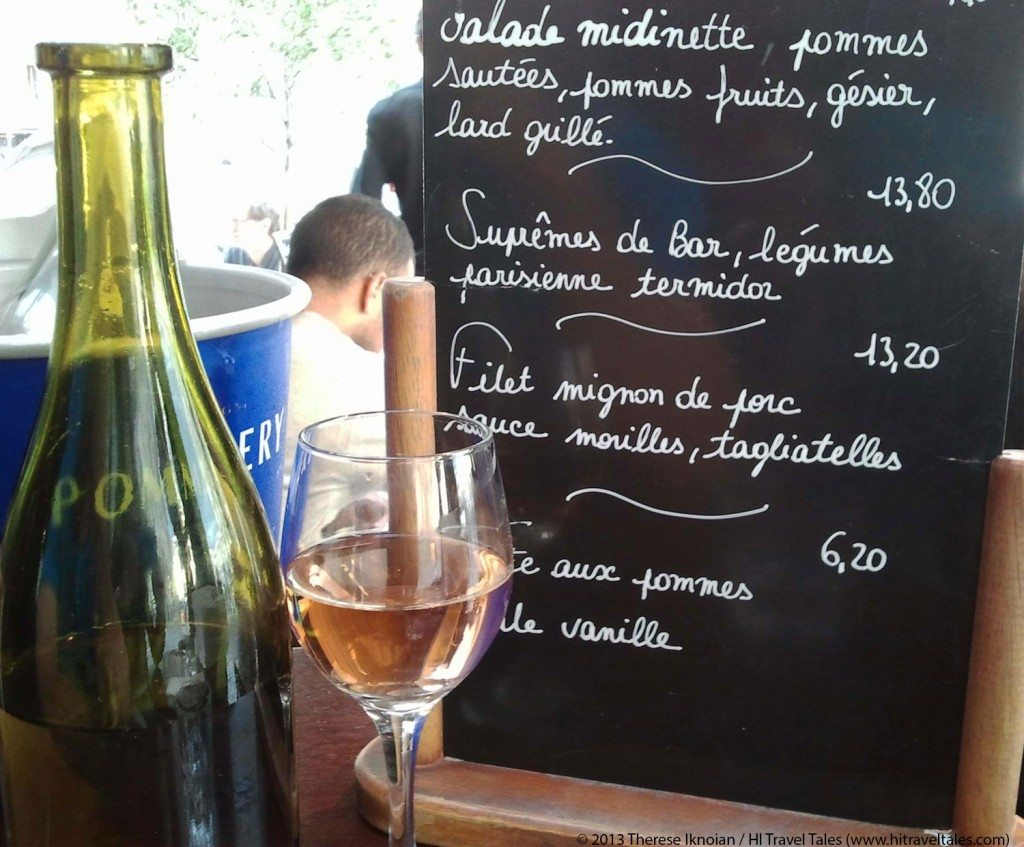 Wine at Le Comptoir du Pantheon