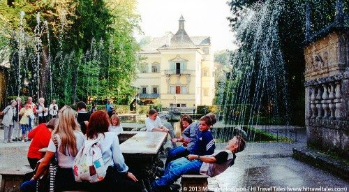 fun and funny photos Hellbrunn Palace