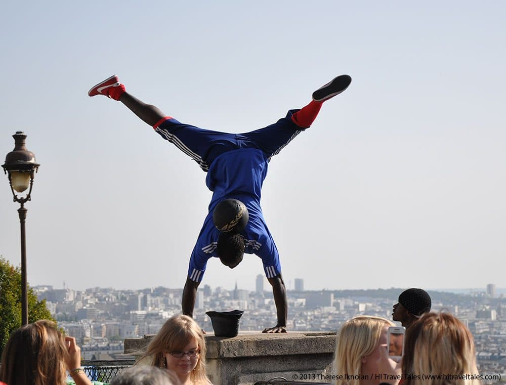 fun and funny photos Paris acrobatic soccer