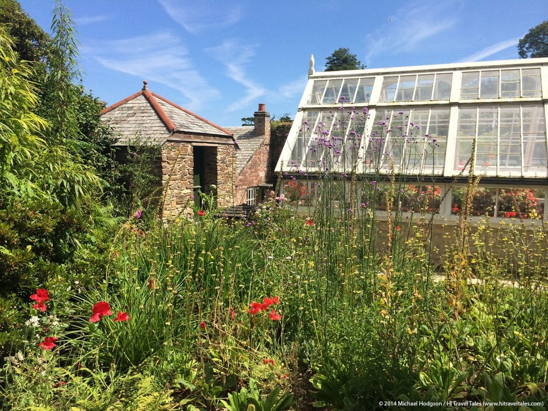 Lost Gardens of Heligan greenhouses and buildings