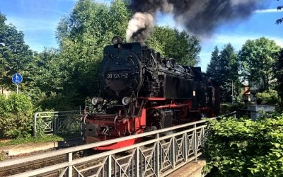 Harz mountain Brockenbahn railway is a narrow gauge wonder
