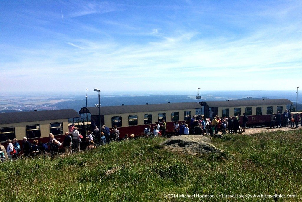 Brockenbahn at the summit of the Brocken