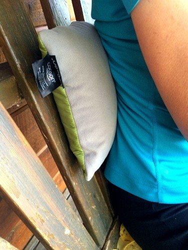Cocoon Lumbar Support Pillow provides excellent support for the back when traveling