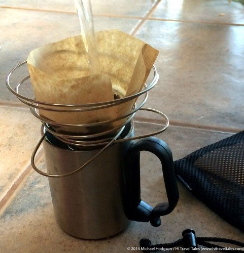 Soto Helix Coffee Cone Brewing Coffee
