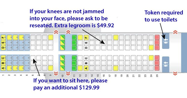 airfare add ons seating chart