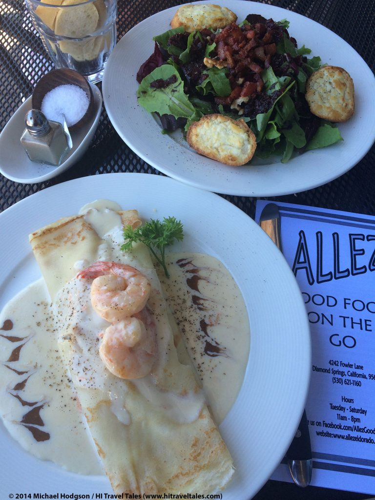 Allez French restaurant Crepe Salad is delicious.