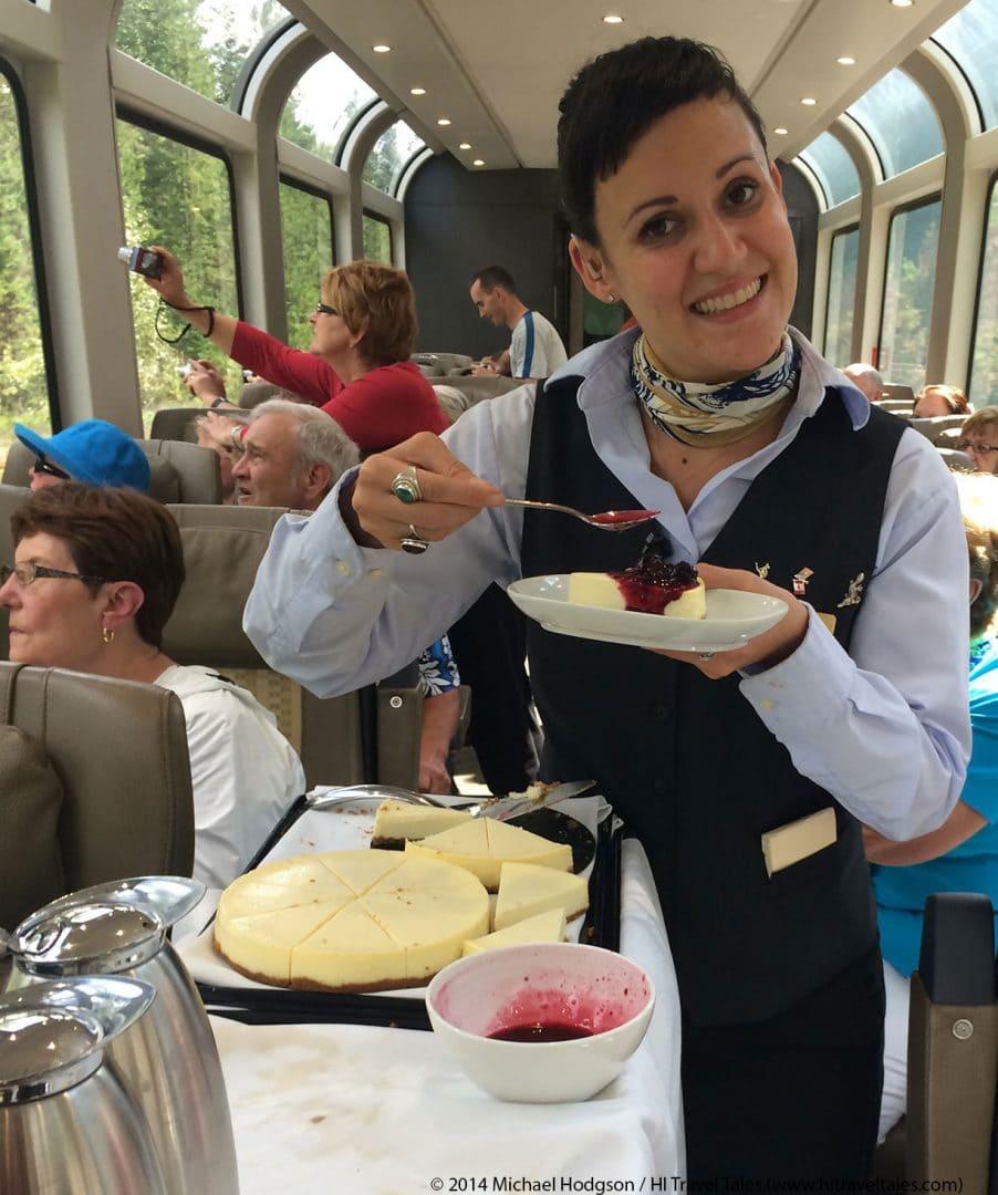 Rocky Mountaineer Train dining