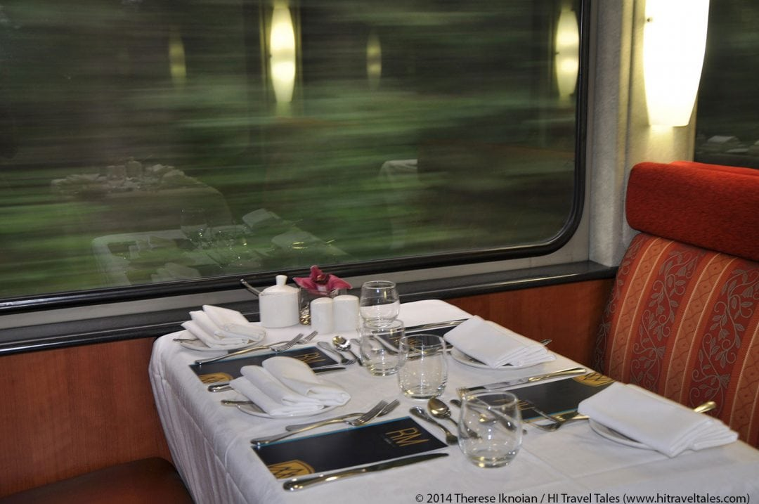 Rocky Mountaineer Train Gold Leaf Service dining