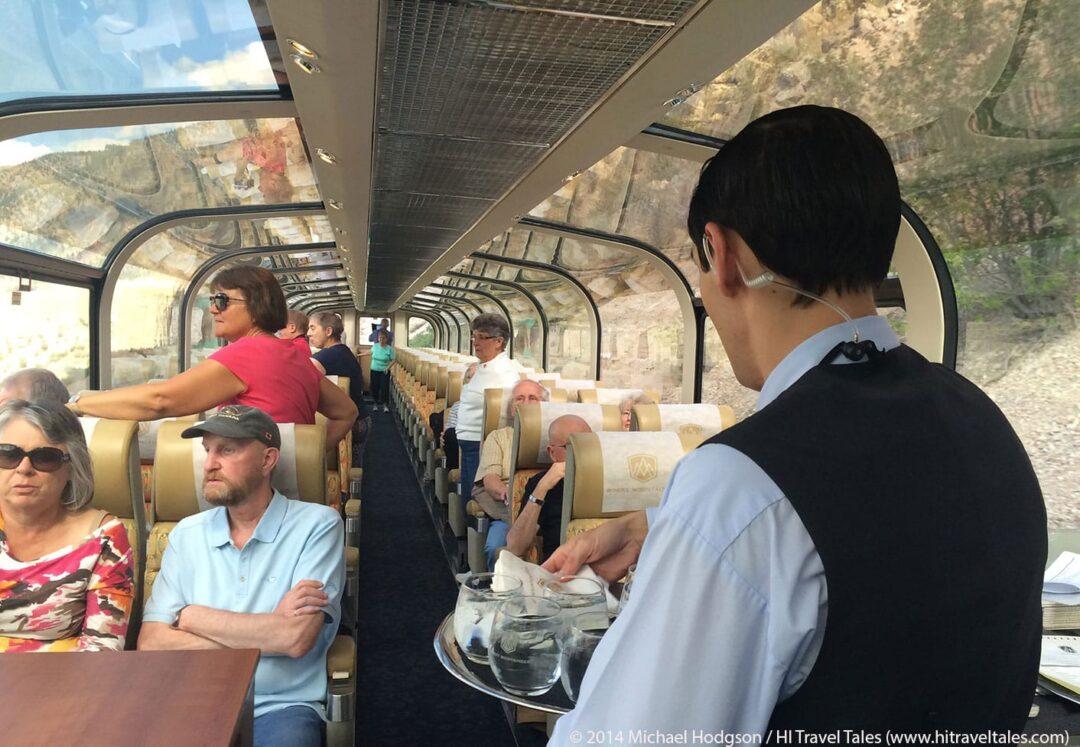 Inside a Rocky Mountaineer Train Gold Leaf Service car