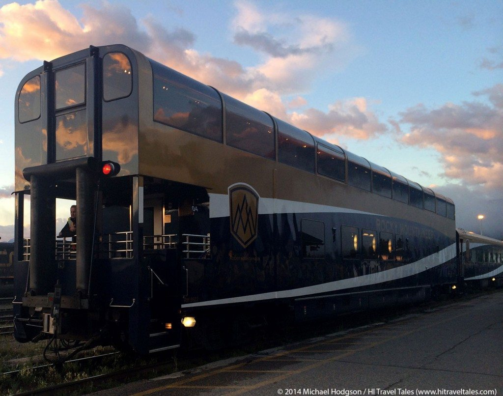 Rocky Mountaineer Train Gold Leaf Service Car