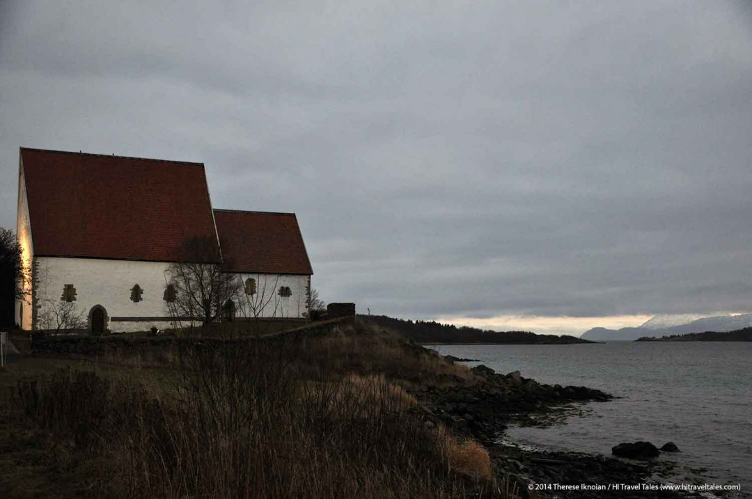 Trondenes church in Harstad Hurtigruten Cruise Excursion