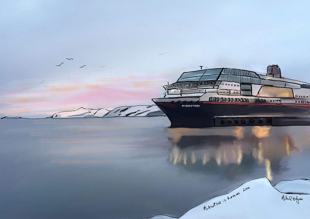 Hurtigruten Cruises Midnatsol in Kirkenes