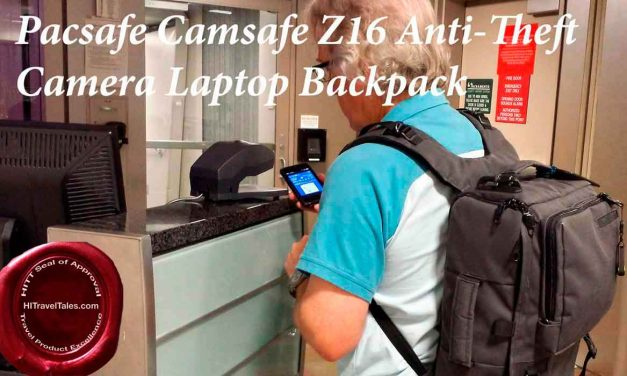 Pacsafe Camsafe Z16 anti-theft camera laptop backpack