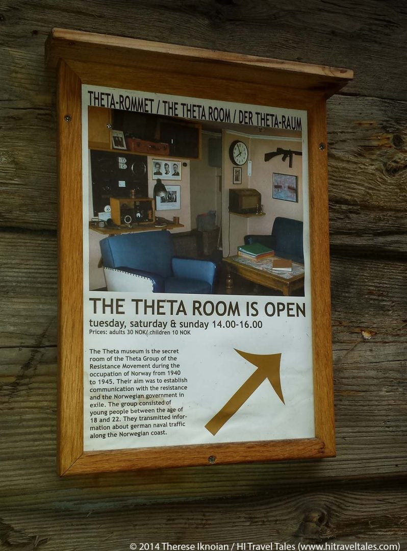 The Theta Museum sign at the entrance