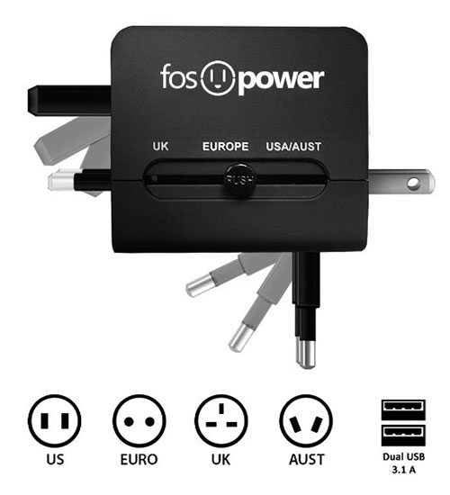 Perfect travel gifts - Fos Power Adapter