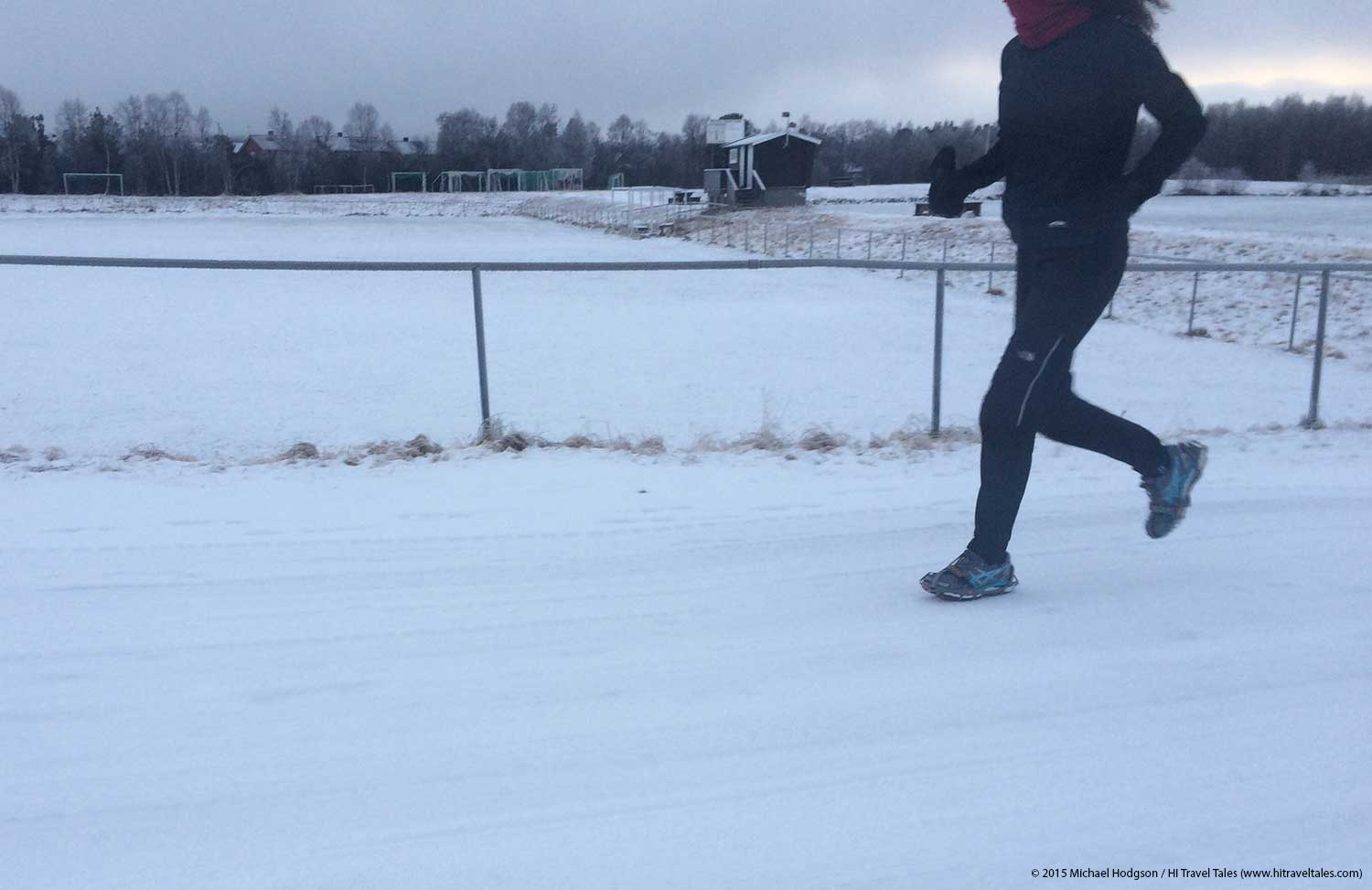 Snow And Ice Traction For Running Shoes