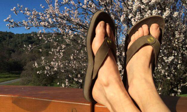 Bogs Hudson leather flip sandals: Lightweight comfort and cush