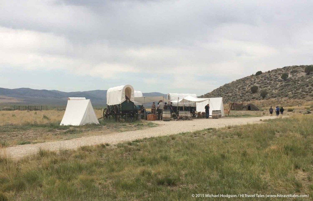 California Trail Interpretive Center pioneer encampment