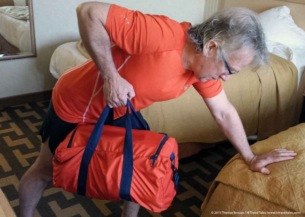 Hotel Room Workout Back Strengthen With Luggage