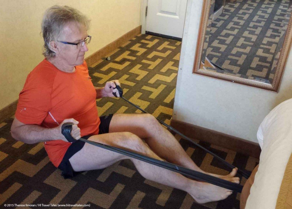 Hotel Room Workout With Resistance Band