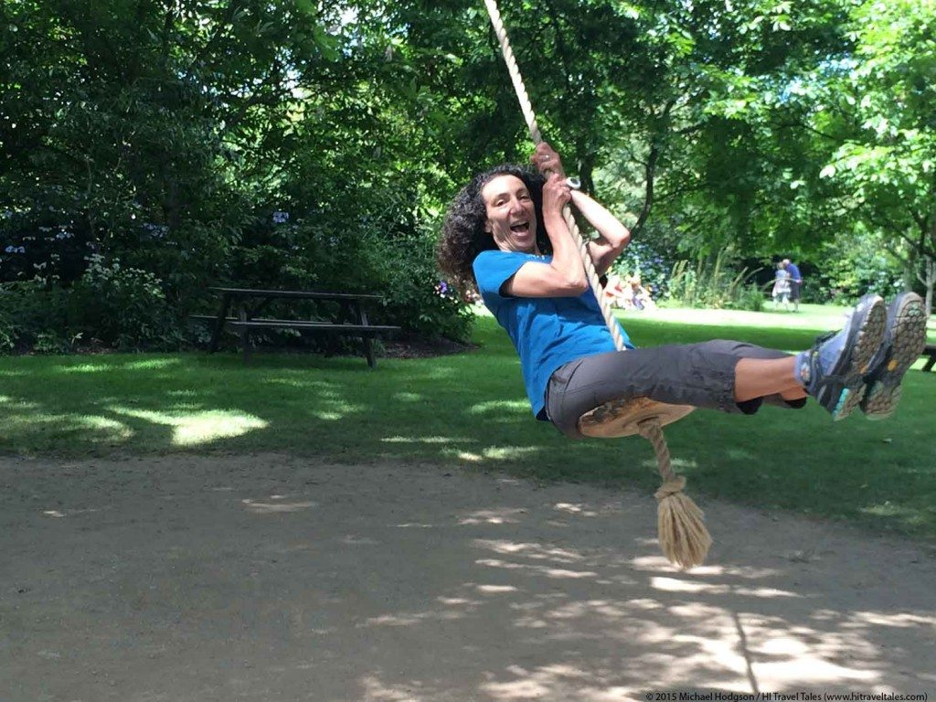 Therese Iknoian getting playful in the Lost Gardens of Heligan