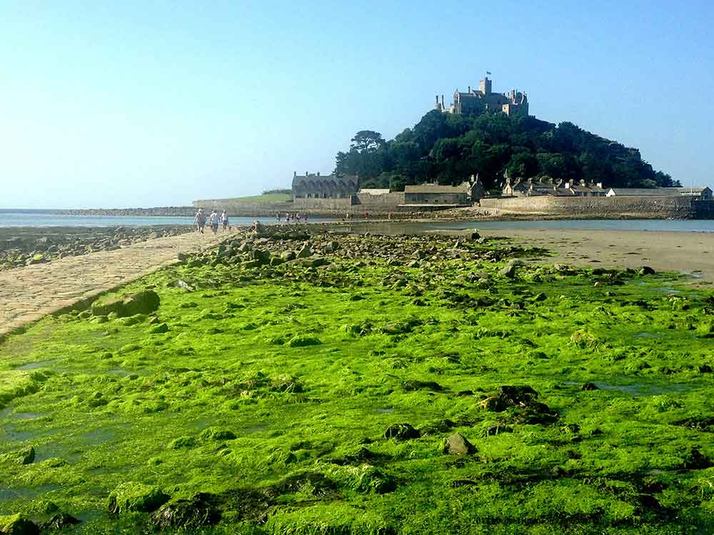 Visit Penzance Cornwall cross the causeway at St Michaels Mount.