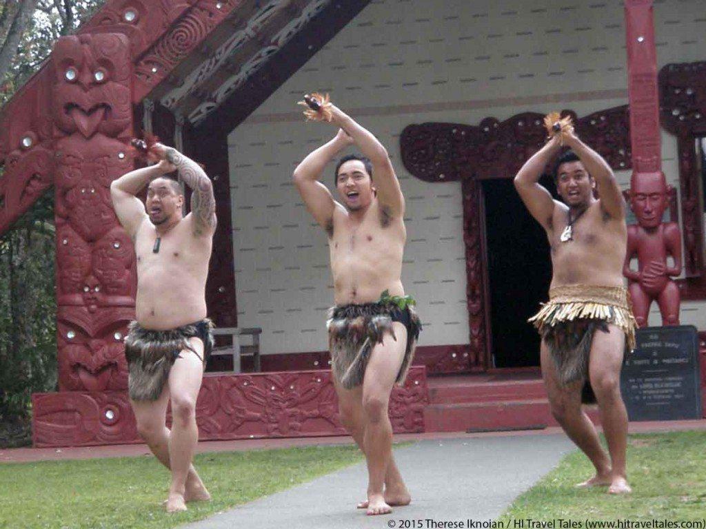 Waitangi Treaty Grounds maori warriors greeting guests