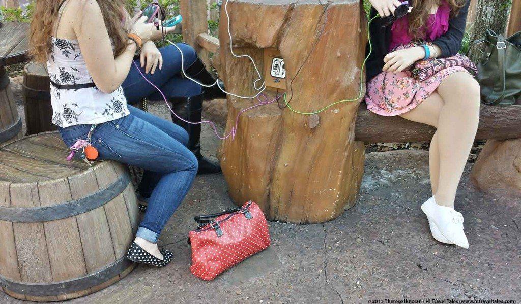 Walt Disney World travel tips charging station