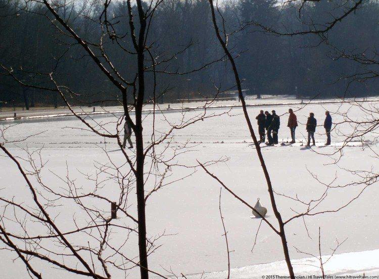 Englischer Garten in Munich in the winter