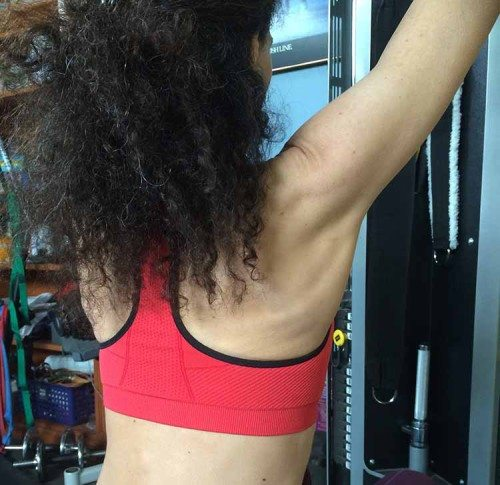 Moving Comfort JustRight Racer sports bra back view