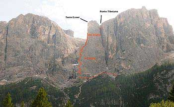 Via Ferrata Tridentina route map