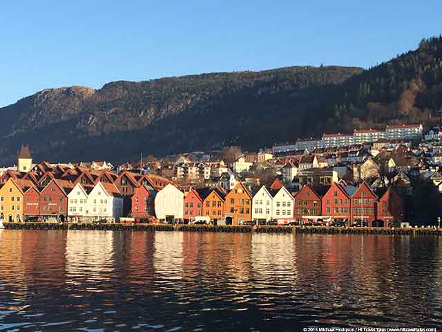 Bergen travel essentials - View of Bryggen wharf in Bergen