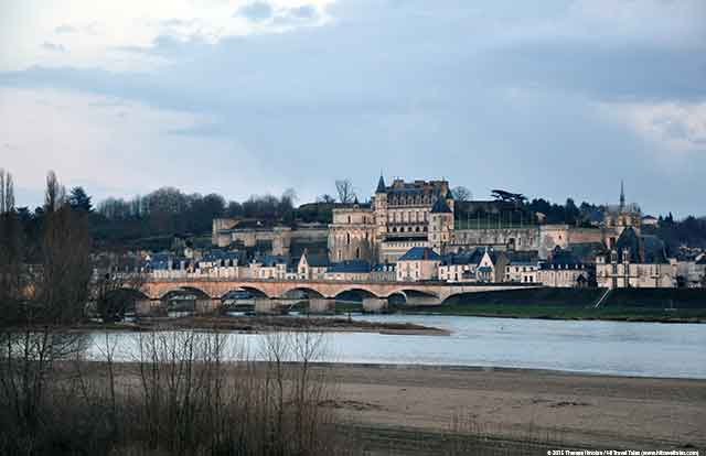 Loire Valley bike path Amboise Castle