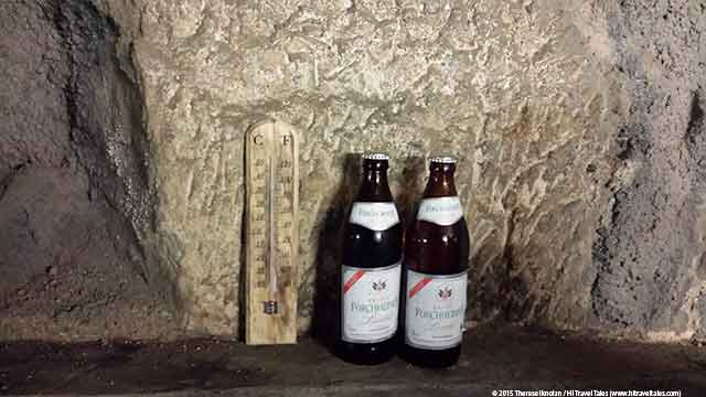 Kellerwald Forchheim Beer Bottles In A Cave