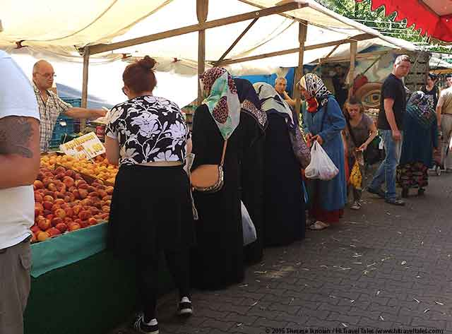Turkish Market in Berlin Ladies Shopping