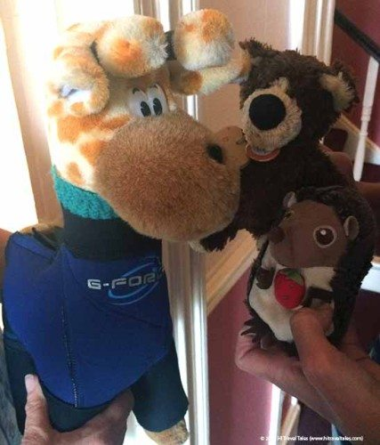 Orso and Elba meet Charlie in Cornwall