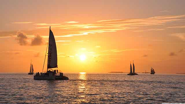 Key West Sunset Sailboats one of 4 free things to do