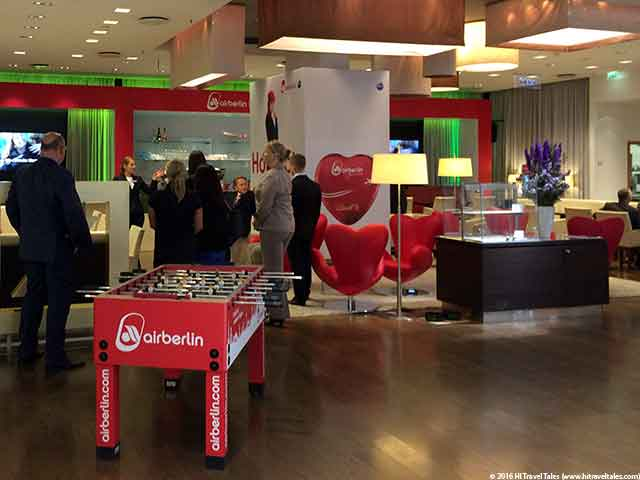 Berlin bank of the future bar area sponsored this time by Air Berlin