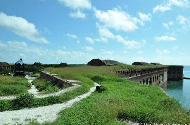 View from the top of Fort Jefferson in Dry Tortugas National Park