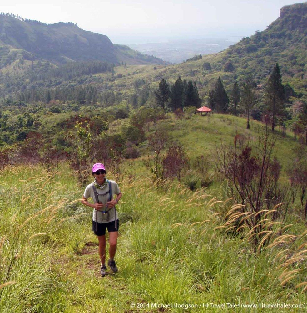 Navuratu Track climbing toward Savuione Falls