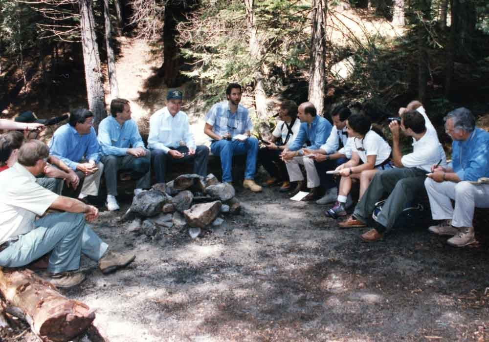 President Bush and our campfire chat