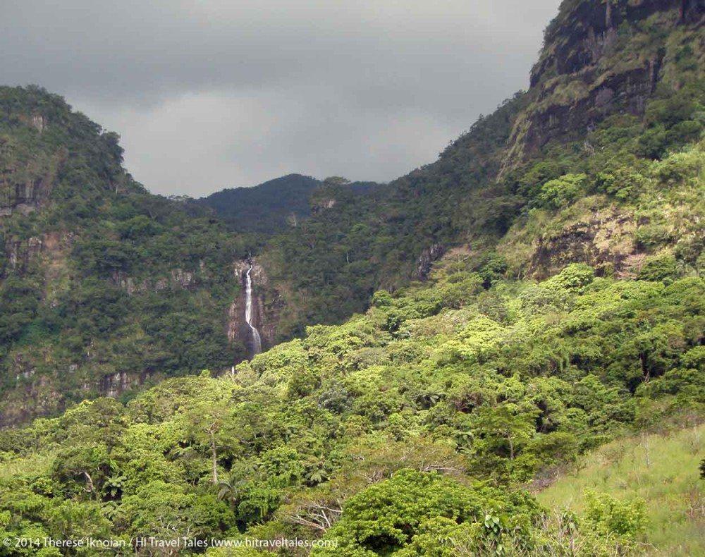 Savuione Falls in the distance in Koroyanitu