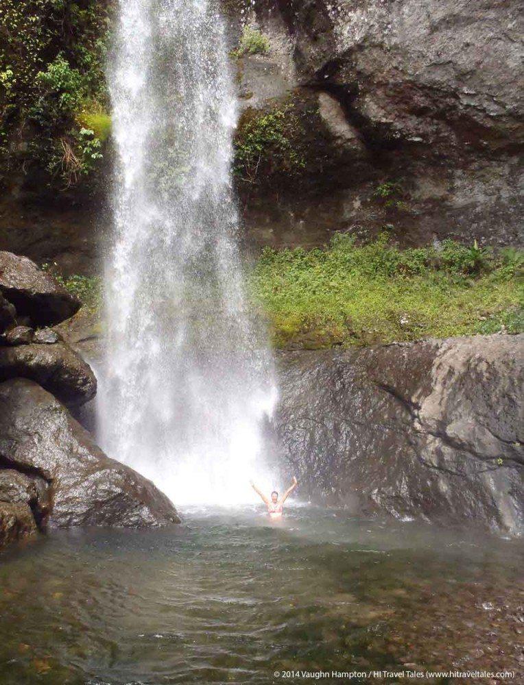 Wonderful swimming hole in Koroyanitu National Heritage Park