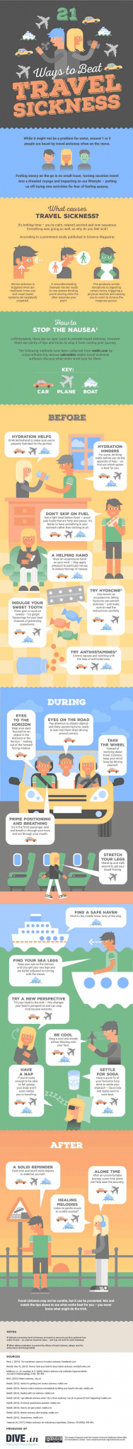 travel sickness prevention infographic