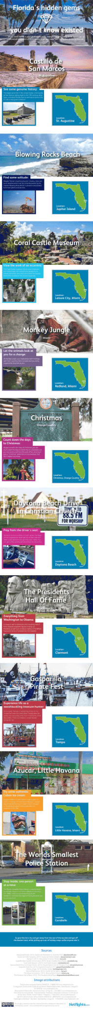 Florida's hidden gems for travelers infographic