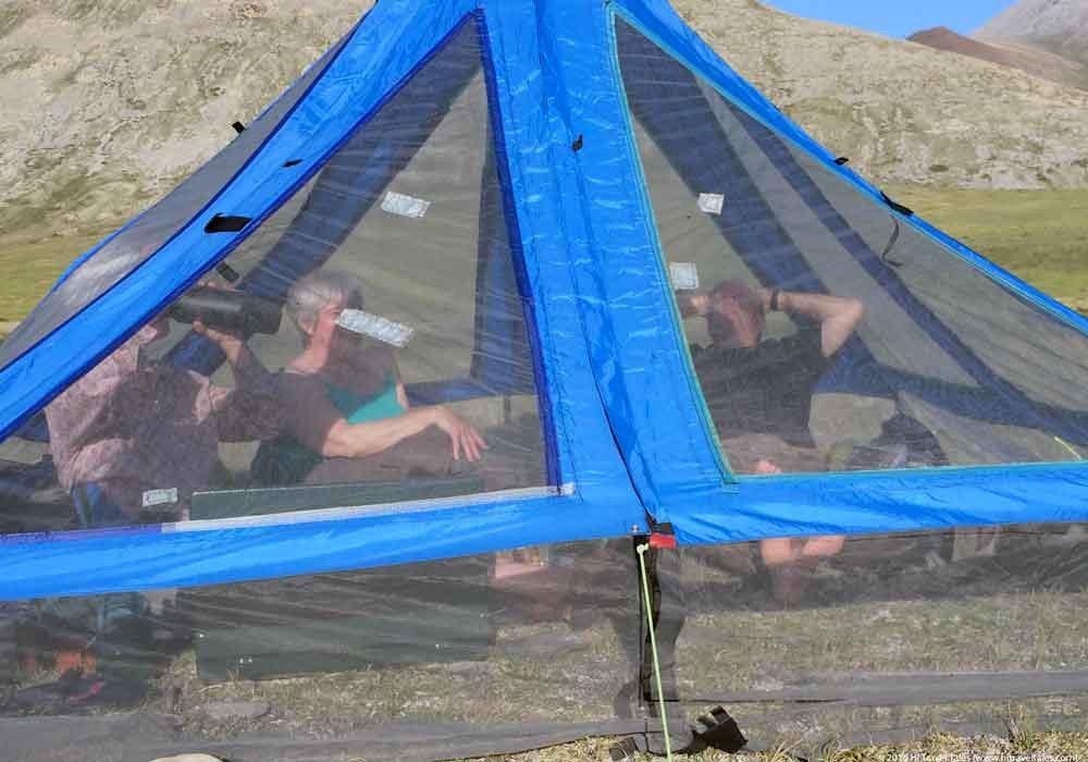 Mosquito shelter in Alaska National Wildlife Refuge