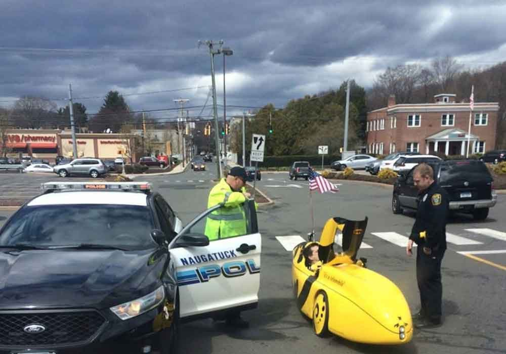 My traveling blues a life on the road finds joy in seeing a banana car pulled over by the police.