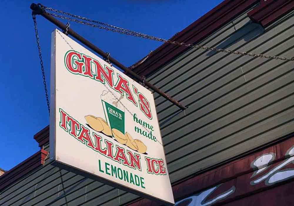 My traveling blues - Italian ice at Ginas.