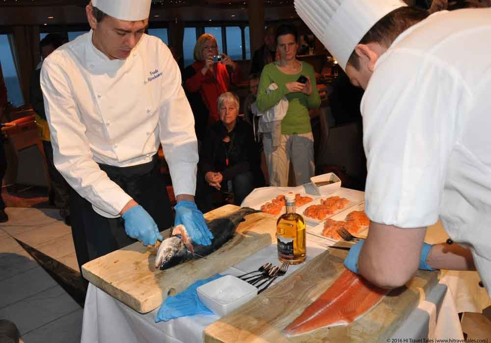 Hurtigruten cruises in Norway feature delicious fresh salmon